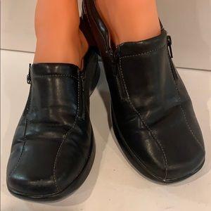 Naturalizer Black Leather Flats Loafer Slip On